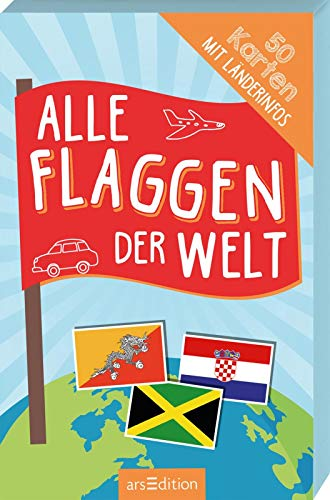 Alle Flaggen der Welt: 50 Karten mit Länderinfos (Flaggen Der Welt)