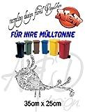Recycling Design ***floral Vögelchen*** - Mülltonnenaufkleber/ Sticker/ Tattoo - frei wählbare Wunschfolienfarbe!