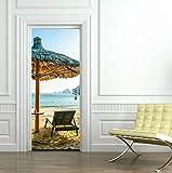 3D-Selbstklebende Tür Aufkleber Sonnenschirm DIY Home Dekoration Abnehmbare Wasserdichte Kunst Tapeten Von Qt XINGMU