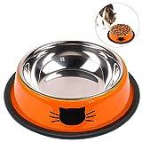Legendog Katze Schüssel Edelstahl Rutschfeste Pet Bowl Dog Bowl Pet Fütterung Schüssel