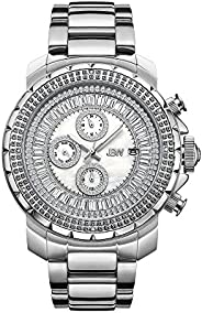 Titus Diamond Dial Stainless Steel Dual Time Men's Watch J6