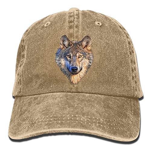 ghkfgkfgk Cool Wolf Head Unisex Cowboy Trucker Cap with Adjustable Baseball Style Hats -