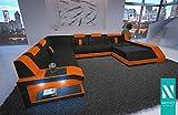 NATIVO STOFFWOHNLANDSCHAFT MATIS XXL MIT LED BELEUCHTUNG Couch Garnitur XXL Megasofa Riesensofa Wohnlandschaft Ultrasofa