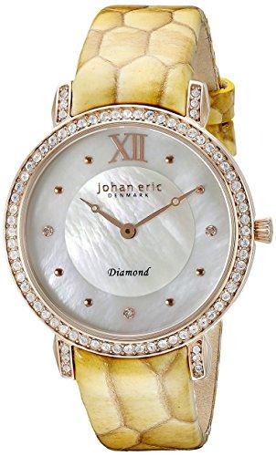 Johan Eric je7000–09de la mujer–009.09hueca analógico pantalla Cuarzo Amarillo Reloj