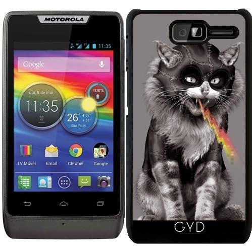 Hülle für Motorola RAZR D1 (XT916) - Katze Spucken Bolzen by Adam Lawless (Catwoman Ideen)