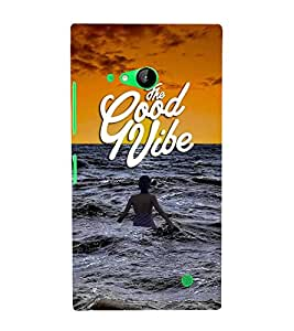 FUSON The Good Vibe 3D Hard Polycarbonate Designer Back Case Cover for Nokia Lumia 730 Dual SIM :: Nokia Lumia 730 Dual SIM RM-1040