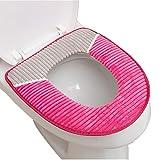 Vimeet Wärmer Plüsch Waschbar Paste-Typ WC-Sitz-Pad Badezimmer Bad WC-Sitzbezüge Toiletten Sitzbezug Closestool Seat Pad Toilet Seat Cover WC-Sitz Kissen Toilette Sitz Abdeckung für Universal Toilettensitz