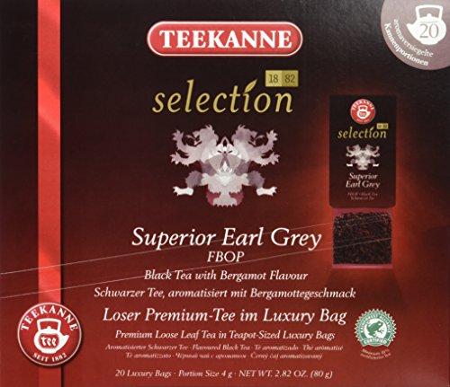 Teekanne Selection 1882 im Luxury Bag - Earl Grey - leicht, blumig, fruchtig, 20 Portionen, 1er Pack (1 x 80 g)