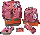 School-Mood Schulrucksack-Set Fly 6-tlg. Traum Pferde 62622 pink