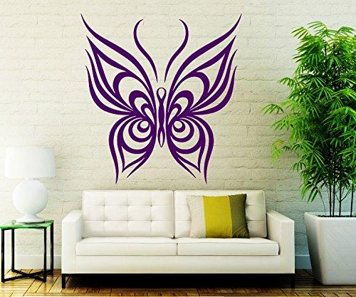 jiuyaomai Abstrakte Schmetterling Muster Wandtattoo Vinyl Tier Entfernbare Wandaufkleber Für Kinderzimmer Mädchen Wohnkultur Kunstwand Decor 42x42 cm