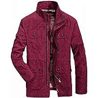 Hombres chaqueta casual abrigo largo B, 3XL