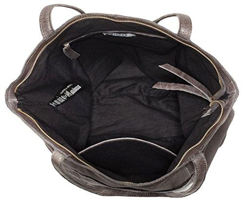 PIECES - Pcjacky Leather Shopper, Borse a spalla Donna Grigio (Castlerock)