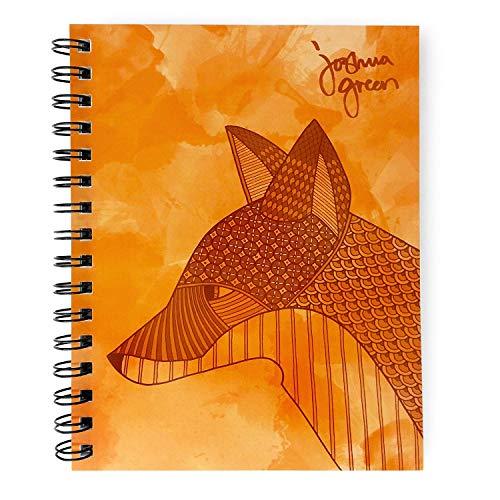 """A5 Notizbuch, liniert, 160 perforierte Seiten à 80 g/m², in Großbritannien  hergestellt, """"Joshua Green"""" Design, von Monster Stationery fuchs"""