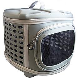 [80% de Réduction] Pet Magasin Transporteur d'animal de compagnie à couverture rigide pliable - Chenil de voyage portable pour chats avec toit et plancher en tissu