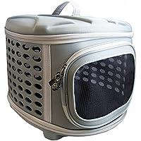 Pet Magasin Bolsa de transporte de mascotas plegable y portátil con tapa dura – Transportín de