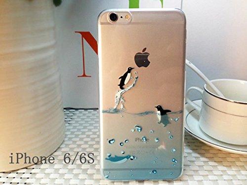 Cover iPhone 6 Plus Custodia telefono creativo trasparente silicone Guscio morbido Anti Graffio Copertura protettiva Anti-polvere paraurti Si applica a iPhone 6/6S Plus(5.5) disegno-16