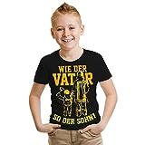 Kinder T-Shirt Feuerwehr Wie der Vater so der Sohn Größe 122-164