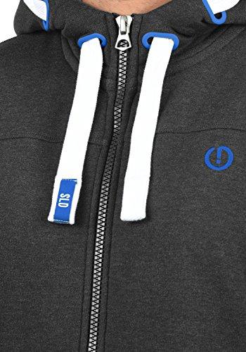 SOLID BenjaminZip Herren Sweatjacke Kapuzen-Jacke Zip-Hoodie mit Kapuze und optionalem Teddy-Futter aus hochwertiger Baumwollmischung Dark Grey Melange (8999)