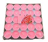 50x Milopon Teelicht Geburtstagskerzen Hochzeit Kerzen Deko Romantische Schwimmkerzen, ohne Rauch, romantisch, Valentinstag, zur Dekoration (Rosa)
