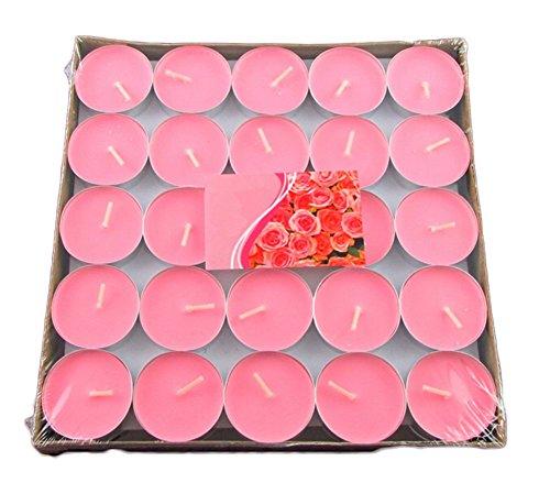 Dosige Kerzen Romantische Rauchfreie Teelichter Set mit Aluminiumschalefür Geburtstag Vorschlag Hochzeit und Party