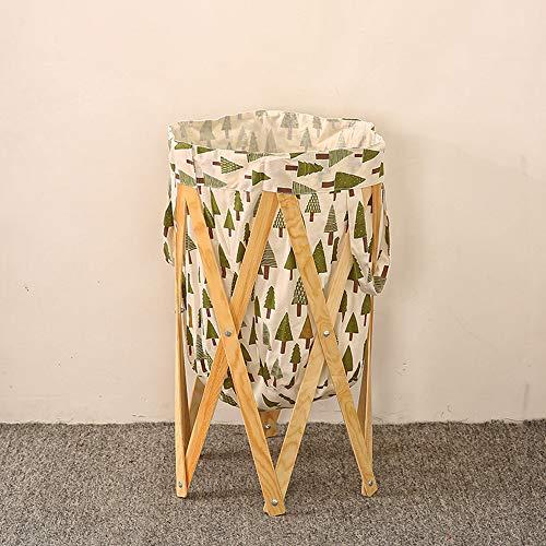faltbare wäschekorb, holz klammer zusammenklappbaren lagerung korb - wäsche bin griffe faltbare kleider - tasche für zimmer - bad(B)