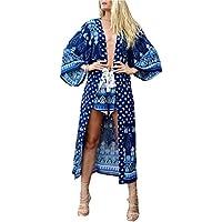 Santwo Chiffon donne piena lunghezza spiaggia swimwear bikini cover up Dress Tops Cardigan con cintura