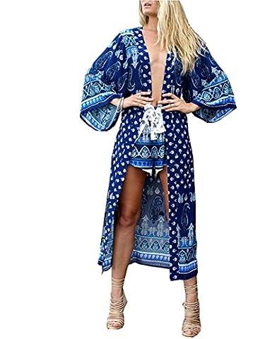 Santwo - Paréo - Femme Bleu bleu Taille Unique - Bleu - Taille Unique