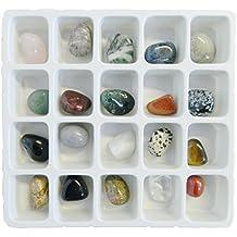 MONILI 20 pietre preziose diverse forme e colori Gioielli dall'India Manodopera indiana