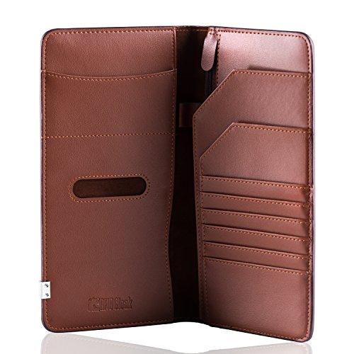 Passport Holder & Business Travel Wallet für Frauen-RFID-Chip blockierender Displayschutzfolie SHIELD Dokumente und Kreditkarten + 2exklusive Reiseführer