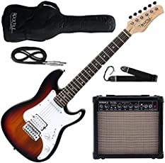 Rocktile Sphere Junior E-Gitarre 3/4 Sunburst SET inkl. Verstärker, Kabel und Gurt