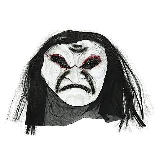 Mmsww Beängstigend Beängstigende Zombie-Maske Kniffliges Gesicht Spielzeug Halloween Make-up-Party Prom Kostüm Requisiten