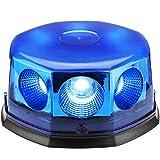 8 COB Beacon Magnetic Orange LED, Lampeggiante Segnale di avvertimento Spia luminosa per tetto di auto. (Blu)