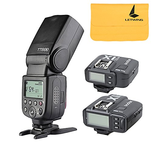 Godox TT600 2.4G Kabelloses Flash Speedlite Master Servo-Blitzgerät mit integriertem Auslöser with X1N Flash Trigger Kit für Nikon (Nikon-flash-trigger)