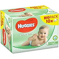 Huggies Natural Care - Toallitas para bebé, 560 toallitas
