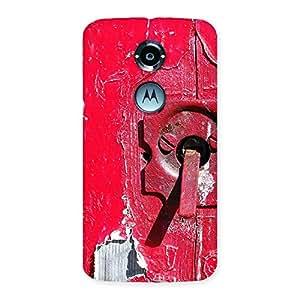 Red Door Back Case Cover for Moto X 2nd Gen