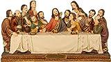 Passion Heiligenfiguren Letztes Abendmahl, Höhe 8cm, handbemalen