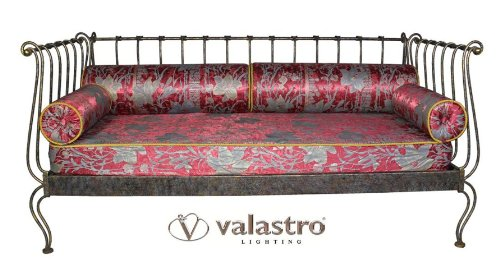 IMPERO Cod.20098_B10 - Valastro salotto Divano letto singolo Ferro battuto arredamento - prodotto in Italia (Panca A Terra)