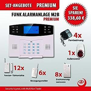 multi kon trade mod le m2b set premium pour alarmes avec 31 capteurs alarme gsm avec cran lcd. Black Bedroom Furniture Sets. Home Design Ideas