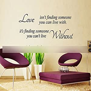 DIY phrase d'amour design décor de mur sticler autocollant mural