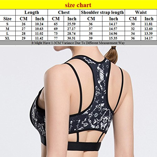 Zhhlinyuan Womens Quick-drying Vest Yoga Running Workout Slimming Sports Bra Q15-0068 Black&White