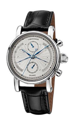 Chronoswiss Sirius Retrograde Reloj Automático para Hombre con Correa de plata cronógrafo y negro 7543b