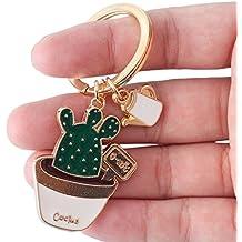 Hosaire Porte-clés Couple pour Voiture Porte Forme de Cactus Boucle à clés  Fantaisie Pendentif fcb820c1b6a