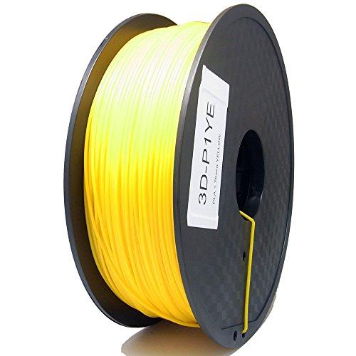 SIENOC 1 Packung 3D Drucker PLA 1.75mm Printer Filament - Mit Spule 1kg (Gelb)