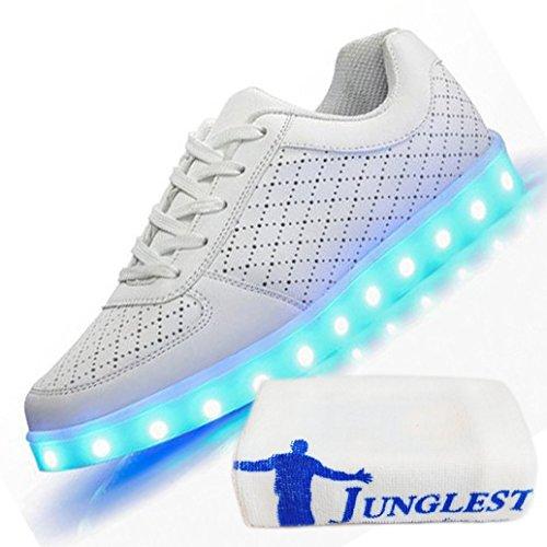 c0 EU 30,[+Kleines Handtuch] großer emittierende Sportschuhe Lade USB Jungen LED Kinderschuhe weise Junge Schuhe leuchtende Licht beleuchtete Schuhm