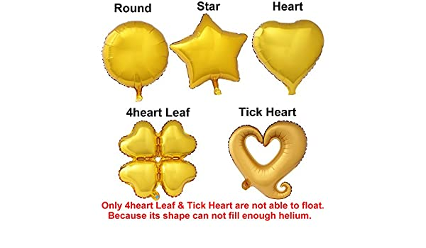 "18/"" Round Heart Star FashionHeart Helium Foil Balloon For Birthday Wedding Party"