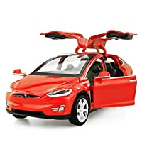 Diecast Model Cars Tesla Toy Cars Mode Toy car with Sound & Light