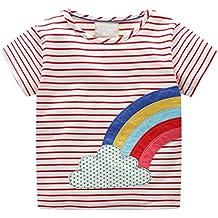 JiaMeng - Camiseta Blusa - Raya Estampada - niña - JMTZ046 1d4b2162d04b