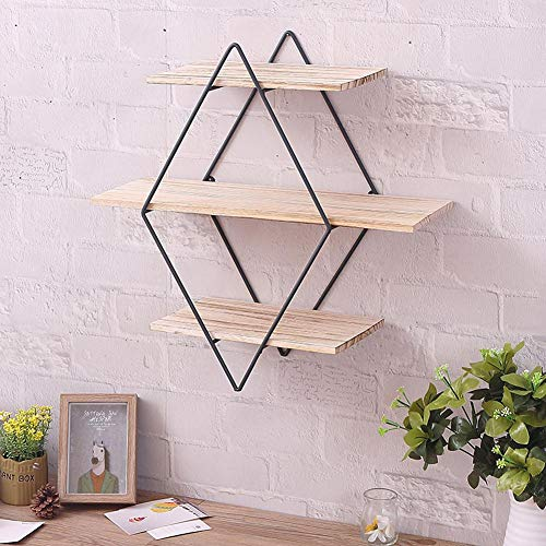 book rack wall shelf book storage plant stand Wall Mount Book Shelves Iron Art Wooden Perfect Decor for Bedroom, Bathroom, Living Room, Kitchen Wall Mount Stand