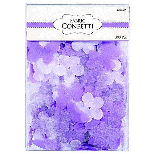 Value Pack Cut Outs (amscan Lila Blumen und Schmetterlinge Stoff Konfetti)