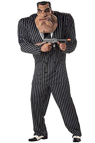 shoperama Mafiaboss Big Toni - Lustiges Gangster Kostüm für Herren - Mafioso Mafiosi Verbrecher - Gr. L